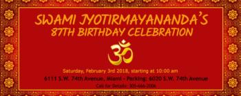 Swamiji's 87th Birthday Celebration